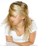 волосы золота Стоковое Изображение