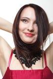 Волосы красивой женщины брюнет длинные стоковое фото rf