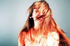волосы красные Стоковое Изображение RF