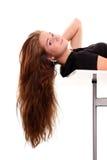 волосы красотки стоковая фотография rf