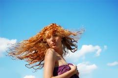 волосы летания Стоковые Изображения