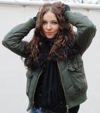 волосы падения осени темные моделируют детенышей Стоковые Фото