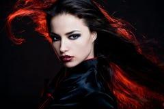 волосы пожара Стоковая Фотография