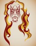 волосы пожара Стоковые Изображения
