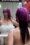 волосы празднества красотки стоковое изображение rf