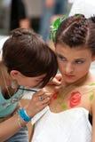 волосы празднества красотки стоковые фотографии rf