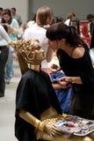 волосы празднества красотки стоковое изображение