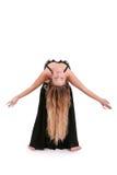 волосы танцора привлекательного живота белокурые длиной Стоковое фото RF