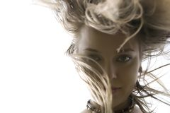 волосы танцы Стоковые Изображения RF