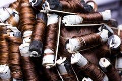 волосы curlers Стоковое Изображение