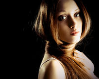 волос женщина длиной довольно очень Стоковая Фотография RF