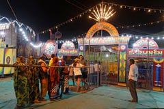 Волшебная выставка в ярмарке Pushkar Стоковое Изображение