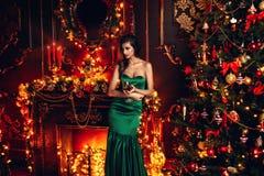 Волшебная ноча рождества стоковое изображение rf