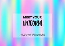 Волшебная предпосылка вектора Hologram Pearlescent верхний слой радуги Сказка радуги голографическая, градиент Hologram радуги ед иллюстрация штока