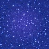 Волшебной предпосылка повторенная зимой Картина Snowfalling безшовная также вектор иллюстрации притяжки corel снежинки предпосылк иллюстрация штока