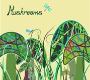 волшебные грибы Стоковое Изображение