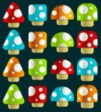 волшебные миниые грибы Стоковая Фотография