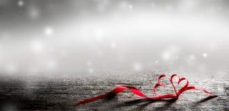Волшебные сердца ленты Стоковая Фотография RF