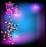 Волшебные цветки и звезды Стоковые Фото