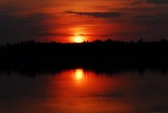 волшебный заход солнца Стоковая Фотография RF