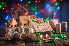 Волшебный коттедж пряника рождества в уникально месте Стоковые Изображения RF