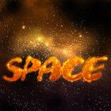 волшебный померанцовый космос Стоковые Фотографии RF