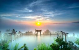 Волшебный рассвет на пагоде Стоковое Изображение