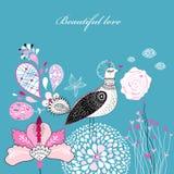 волшебство влюбленности птицы Стоковое Изображение RF