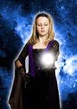 волшебство девушки Стоковое фото RF
