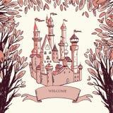 волшебство замока бесплатная иллюстрация