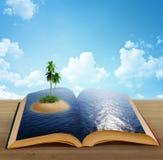 волшебство острова книги Стоковое Фото