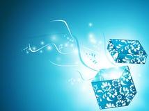 волшебство подарка коробки Стоковые Изображения
