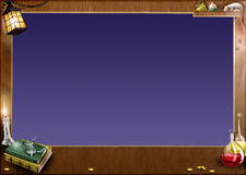 волшебство рамки горизонтальное Стоковое фото RF
