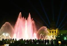 волшебство фонтана 12 barcelona montjuic Стоковые Фотографии RF