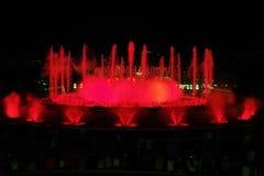 волшебство фонтана 2 barcelona montjuic Стоковая Фотография