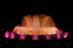 волшебство фонтана 5 barcelona montjuic Стоковые Фотографии RF