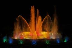 волшебство фонтана 7 barcelona montjuic Стоковая Фотография RF