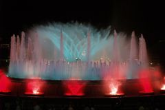 волшебство фонтана 9 barcelona montjuic Стоковое фото RF