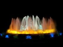 волшебство фонтана barcelona Стоковая Фотография