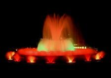 волшебство фонтана barcelona Стоковое Изображение RF