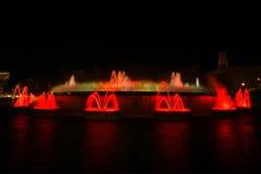 волшебство фонтана montjuic Стоковые Изображения