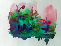 Волшебство цветка предпосылки искусства акварели красочное Стоковая Фотография
