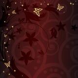 волшебство curles предпосылки флористическое золотистое Стоковое фото RF