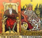 Волшебство Divination карточек Tarot оккультное стоковое изображение