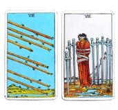 Волшебство Divination карточек Tarot оккультное стоковое фото