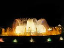 волшебство s фонтана barcelona Стоковые Фотографии RF