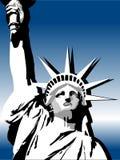вольность США градиента предпосылки Стоковые Изображения RF