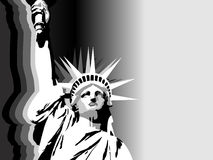 вольность США предпосылки черная белая Стоковое Изображение