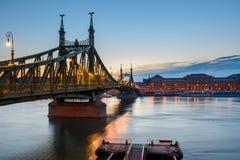 вольность budapest моста стоковое изображение