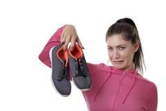 Вонючие ботинки oit работы стоковое изображение rf